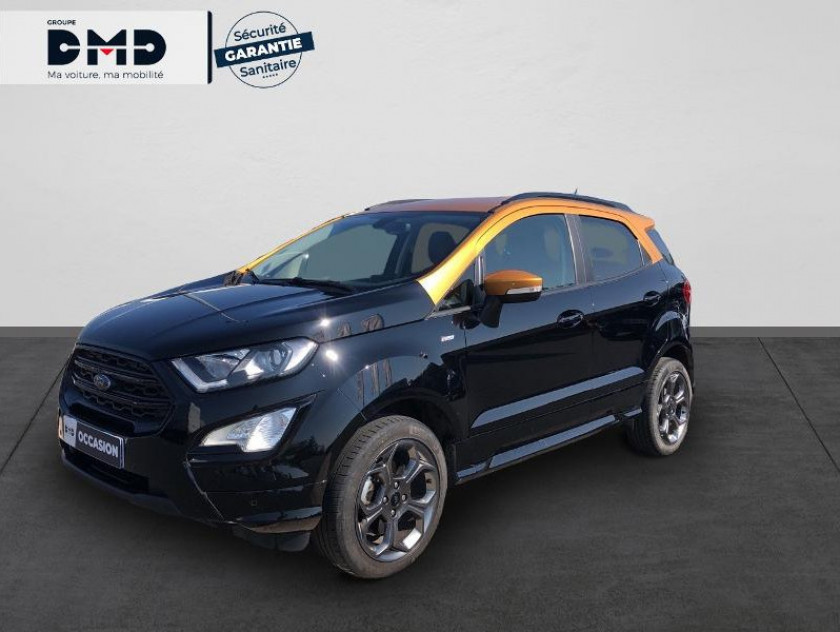 Ford Ecosport 1.0 Ecoboost 125ch St-line Noir/jaune Euro6.2 - Visuel #1