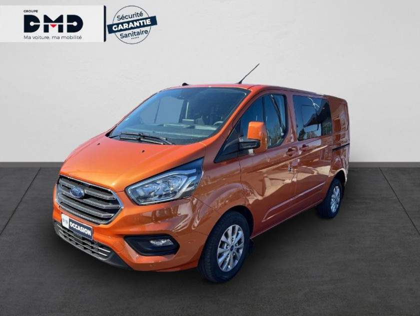 Ford Transit Custom Fg 300 L1h1 2.0 Tdci 130 S&s Cabine Approfondie Limited Bva6 7c - Visuel #1